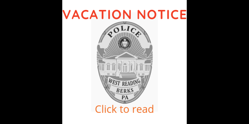 Image for NEW!!! ONLINE VACATION NOTICE FORM